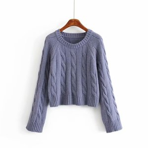 woah 2019 Ah Hui 43-1277 европейский и американский модный вязаный жаккардовый свитер