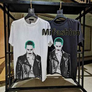 2020 de primavera y verano Europa payaso comodín de impresión de alta definición de lujo de hip hop en la chaqueta de cuero tee camiseta Hombres Mujeres algodón de manga corta camiseta