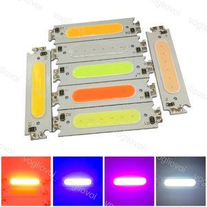 ضوء الخرز 60x15 ملليمتر 2 واط رقاقة الصمام ضوء مصباح DC12V أبيض أصفر أزرق أحمر أخضر وردي الصمام لمبة diy الإضاءة 60 ملليمتر cob board eub
