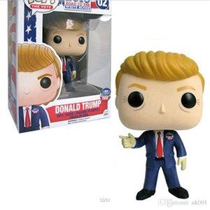 Funko Pop Donald Trump Presidente Campaña 2016 # 02! Donald Trump POP figura de acción de juguete muñeca para los niños calientes de la venta