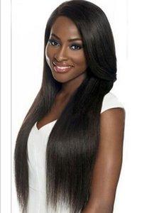 Senhora Long Silky Straight Black Wigs sintéticos que vendem peruca resistente ao calor Fibra sem glúel para mulheres FZP162