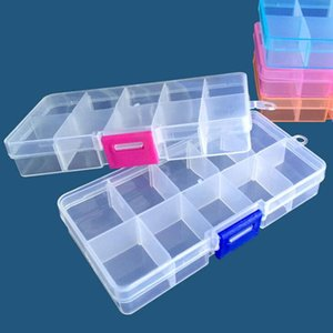 Plastic Organizer Container storage box adjustable dividers Removable Grid Compartment for Jewelry Beads Earring Container Tool 10 Grid