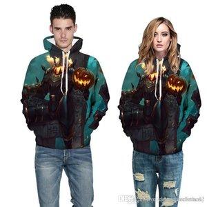 Styles foncé Hommes Designer Hoodies Pumpkin 3D Imprimé Femmes Hoodies Casual Halloween Party Couples correspondants Vêtements