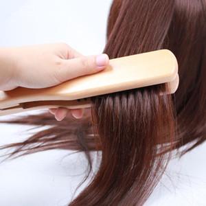 Haarglättungsbürste Wildschweinborstenhaarbürste Styling Antistatisch Kamm V Typ Gerade Haar DIY Salon Friseur F2329