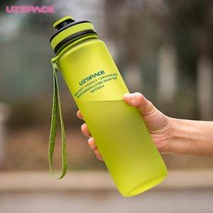 Adultes Bouteille D'eau Uzspace 650Ml 1000Ml Capacité Eau Potable En Plastique Sport Protéines Shaker Ma Bouteille