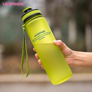 Adultos garrafa de água 650ml proteína água esporte plástico 1000ml portátil minha capacidade uzspace shaker beber garrafa wonjj