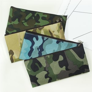 Camouflage Cosmetic Bag Pencil Bag Boys Girls Pen Storage Case Camo Zip Pouch Cosmetic Brush Holder Makeup Organizer 4styles DHL free