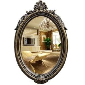 New European Oval Wandbehang Land Badezimmerspiegel American Minimalist Waschbecken schmücken Schlafzimmer Spiegel Mode stlye