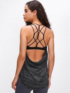 LU-07 Free To Be Zen Tanque Yoga Vest gratuito respiração falso de duas peças colete Workout Gym Backless Lady Underwear