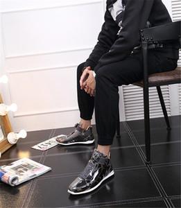 Coreano caldo di vendita alla moda scarpe stilista argento oro nero lucido brillante Mr. elegante tappeto rosso preferito qualità shoes40-45