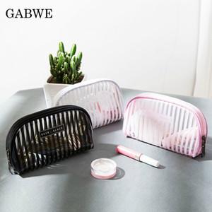 GABWE Transparent Women Cosmetic Bag Travel Function Makeup Case Zipper Make Up Organizer Storage Pouch Toiletry Beauty Wash Bag