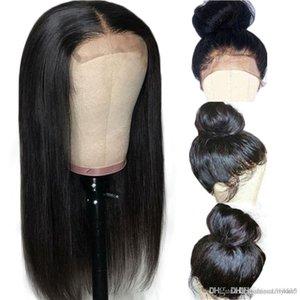 Pelucas frontales de encaje de 24 pulgadas 360 Densidad 180% Larga recta Cabello remy indio Color natural Peluca de cabello humano con pelo de bebé Nudos blanqueados