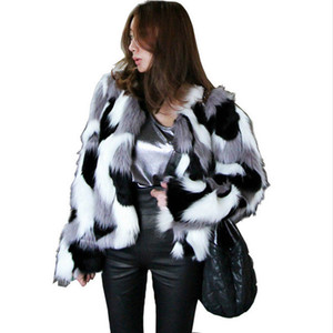 Faux Fur coat Women's 2018 Autumn and Winter New Korean version of the Whole Leather Imitation Fur Short Coat Size S-6XL