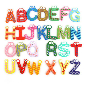 Words Fridge magnets Children Kids Wooden Cartoon Alphabet Education Learning Toys Adult Crafts Home Decorations Gifts
