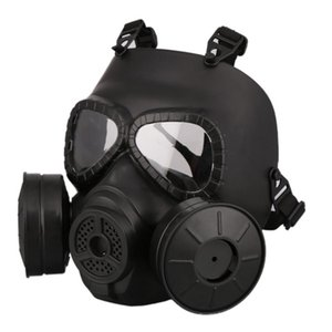 M40 Ventilador doble filtro Máscara de gas CS Paintball Tactical Casco Ejército Capacetes De Motociclista Guardia FMA Cosplay