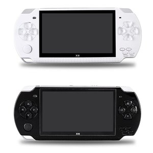 X6 Handheld Video Game Console Screen 8GB For PSP Game Store Classic Games TV Output Portable Games Player Game box
