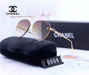0008 New Luxury óculos de sol para homens e mulheres Marca Designer Sunglasses Enrole Sun vidro Pilot quadro revestimento Espelho Lens