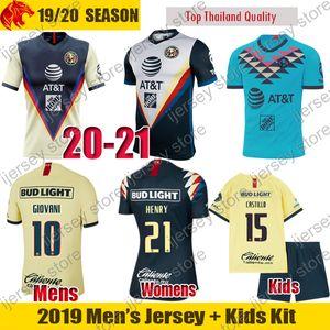 Maglie da calcio Club America HENRY CASTILLO 2019 2020 Liga MX RODRIGUEZ Maglia da uomo bambini Kit donna Maglia da calcio GIOVANI OCHOA Portiere