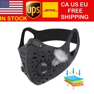 Cycling Masks Anti-Dust Pm2.5 Face Cover Breathable Activated Carbon Running Bicycle Mask Sport Training MTB Road Bike Protection Mask DHL