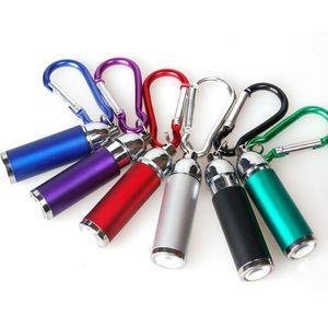 alliage mini portable en aluminium Lampes de poche porte-clés porte-clés torche Zoom Lampes de poche Clés chaîne lampes torches escalade Boucle Lumières