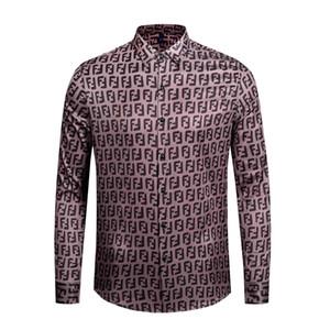 italie Vêtements tendance 2019 Nouveau style Mode Chemise à manches longues Medusa gold Print 3d medusa Shirt pour hommes M-XXL.