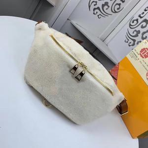 Nouveau single Sac à bandoulière à l'épaule de paquet épaule détachable laine Lambs imprimé classique fleur sac à dos unisexe poches poitrine