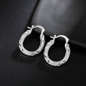 arrings Boucle d'oreille en gros pour les femmes bijoux mode chaud mariage charmes de la mode couleur Argent Party boucle d'oreille de luxe belle estampillé, J ...