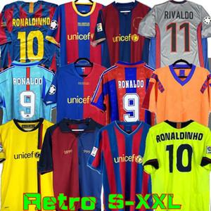 Retro camiseta de fútbol Barcelona 96 97 07 08 09 10 11 XAVI Ronaldinho final RONALDO RIVALDO GUARDIOLA Iniesta MESSI maillot de pie 91 92 99