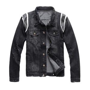 19fw Moda Uomo stilista Giacche Uomo Donne Retro Fashion Giacca di jeans di alta qualità afflitto denim strappati cappotto del rivestimento