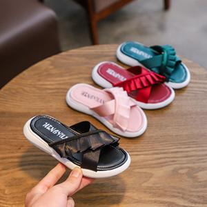 Bébé Brodé BASCULE 2019 été Mode enfants Slipper enfants filles chaussures de plage C6328