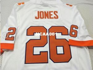Jóvenes Clemson Tigers Sheridan Jones # 26 de la juventud verdadera bordado completo balompié Jersey Tamaño S-4XL o costumbre cualquier nombre o el número del jersey