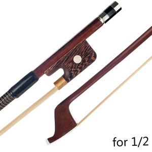 1 2 French Style Brazilwood Double Bass Bow Parisian Eyes Round Stick Quality White Horsetail