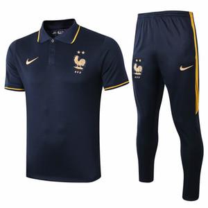 2019 équipe nationale 2020 veste pour hommes Mbappé manches courtes T-shirts Pogba jersey soccer Survêtements chemise de formation Giroud polo frence Griezmann
