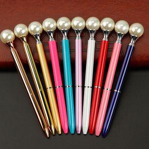 New Ins Styles Big Pearl metal Ballpoint pen Kawaii Queen's crutch Ball Pen For School Business Office Supplies Wedding Gift