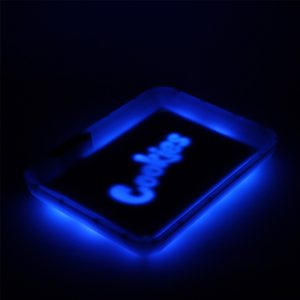 Cookies Glow Tray Rolling Tray Blue Red Herb Tray Silicone Rechargeable Battery LED Light Glow Trays