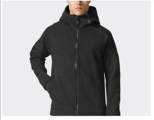 معطف عارضة الخريف الشتاء العلامة التجارية هوديي الرجال بلوزات الصلبة هودي سميكة هوديس الرجال ملابس رياضية زيبر بلوزات جديدة