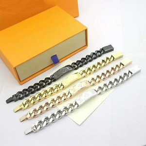 Nuovo grossa catena placcata quattro colori opzionali mens braccialetto del progettista dell'oro di spessore super-braccialetto caldo selvaggio degli uomini