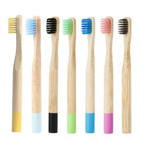 الخيزران الأطفال فرشاة الأسنان مع حامل الطبيعية البيئية الخيزران مقبض فرشاة الأسنان لينة الشعر الخشن استخدام للأطفال صحة الفم العناية بالأسنان