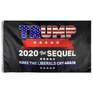 3x5 pies Bandera Trump 2020 The Sequel Haga los liberales Cry Bandera De nuevo Banner barato al por mayor precio para la publicidad, envío libre