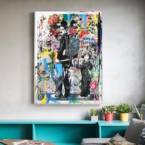 Pinturas de Banksy Graffiti arte pop para los cabritos sitio Home Decor pintado a mano de la impresión de HD pintura al óleo sobre lienzo de arte cuadros de la pared de lona 200120
