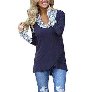 Women Shirt Womens Designer Clothes Winter Vrouwen T Shirt O Hals Modal Streep Tops Vrouwelijke Blusas Shirt Casual Katoen Blend
