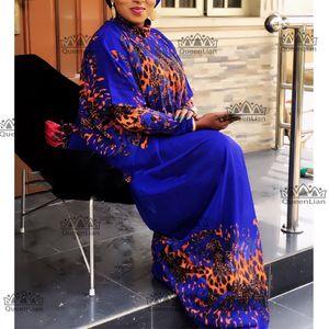 2019 New African en vrac manches longues en mousseline de soie design Dashiki robe pour Lady XFCX #