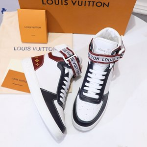 2020 Rivoli Sneaker Boot Femmes Hommes Chaussures de luxe en toile Monogram Top Sneaker Top qualité mode chaussures d'entraîneur en cuir véritable avec boîte