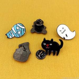 Cadılar Bayramı Çizgi Broş Hayalet Kabak Mumya Cadı Kedi Broş iğneler İçin Kadın Erkek Çocuk Takı Festivali Aksesuar Hediyeleri
