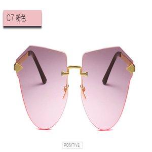Arrow Frameless gold Sunglasses The new classic sunglasses glasses arrow CM907 round frame sunglasses for men and women anti-UV FujJe RvUjO