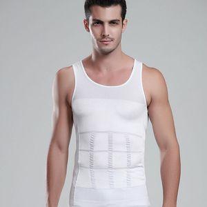 Emagrecimento dos homens Shaper Do Corpo Barriga Gorda Roupa Interior Colete Camisa Compressão Corset Underwear Musculação