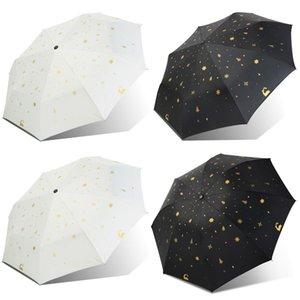 Simple Outdoor Sunshade Umbrella Blocking Ultraviolet Rays Folding Dual-Use Sunscreen Rain Windproof Parasol