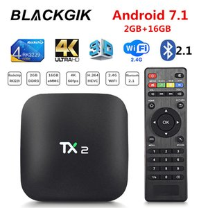 TX2 Android Smart TV BOX RK3229 2G 16GB 2.4G Wifi 4K 60fps HD H265 Media Player IPTV Set Top Box Navio do Brasil