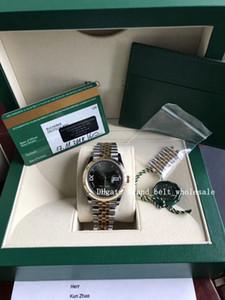 2020 Venta de damas Reloj Fábrica DateJust 18K Gold Steel 36mm Mujeres Reloj 278273 Asia Mecánico Automático Verde Mirror Diamante Roma