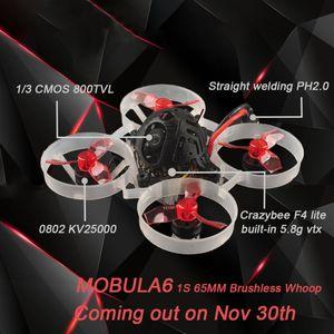 Mini FPV Racing Drone Mobula6 Mobula 6 65mm Brushless Bwhoop FPVAIO 4in1 Crazybee F4 Lite Runcam Nano3 12pairs Props No Battery